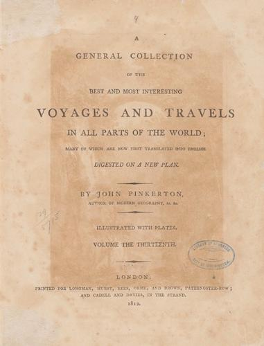 English - A General Collection of Voyages and Travels Vol. 13