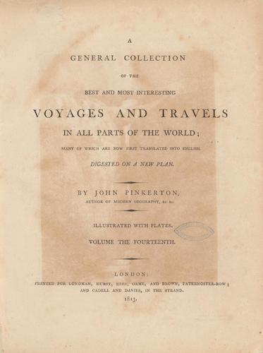 English - A General Collection of Voyages and Travels Vol. 14