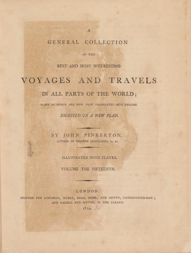 English - A General Collection of Voyages and Travels Vol. 15