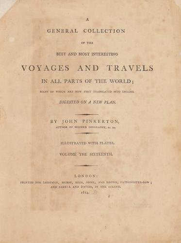 English - A General Collection of Voyages and Travels Vol. 16