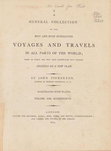 English - A General Collection of Voyages and Travels Vol. 17