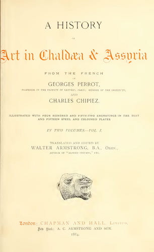 English - A History of Art in Chaldaea & Assyria Vol. 1