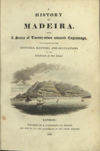 A History of Madeira - Title Page (1821)