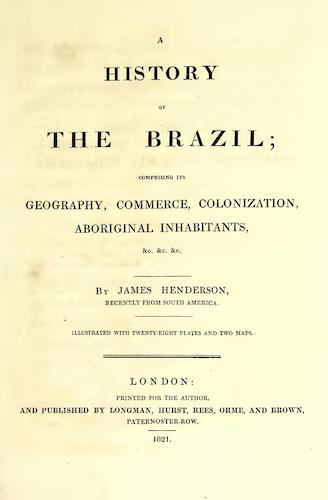 Aquatint & Lithography - A History of the Brazil