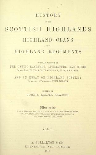 English - A History of the Scottish Highlands Vol. 1
