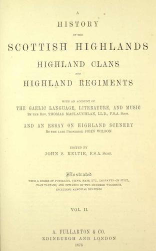 Great Britain - A History of the Scottish Highlands Vol. 2