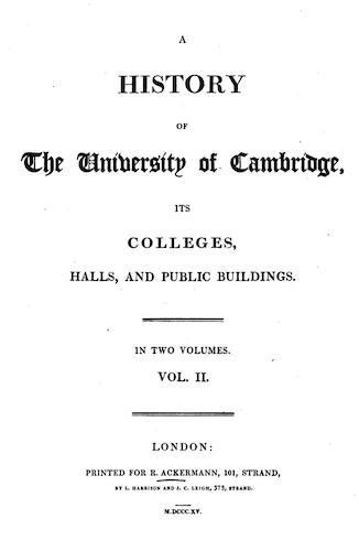 Aquatint & Lithography - A History of the University of Cambridge Vol. 2
