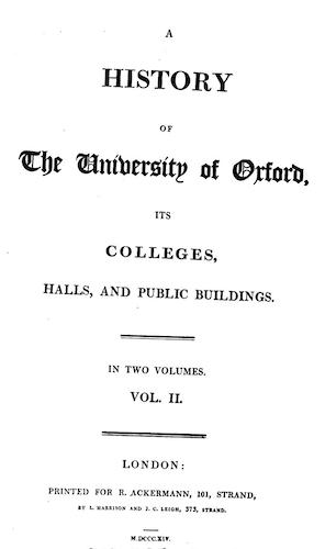 Aquatint & Lithography - A History of the University of Oxford Vol. 2