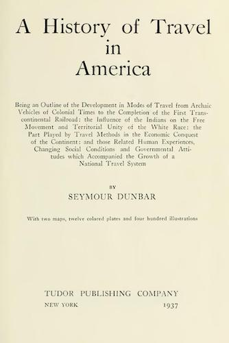 Aquatint & Lithography - A History of Travel in America