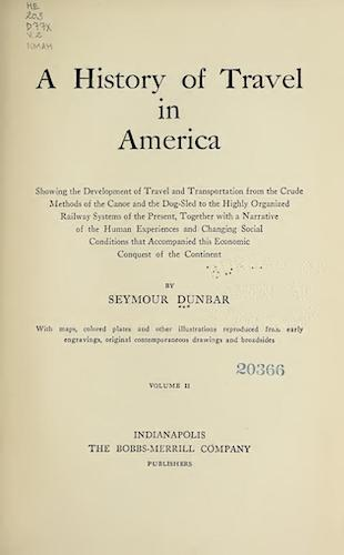 English - A History of Travel in America Vol. 2