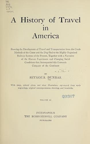 English - A History of Travel in America Vol. 3