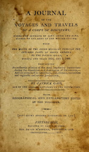 A Journal of the Voyages and Travels of a Corps of Discovery (1807)