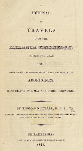 Aquatint & Lithography - A Journal of Travels into the Arkansa Territory