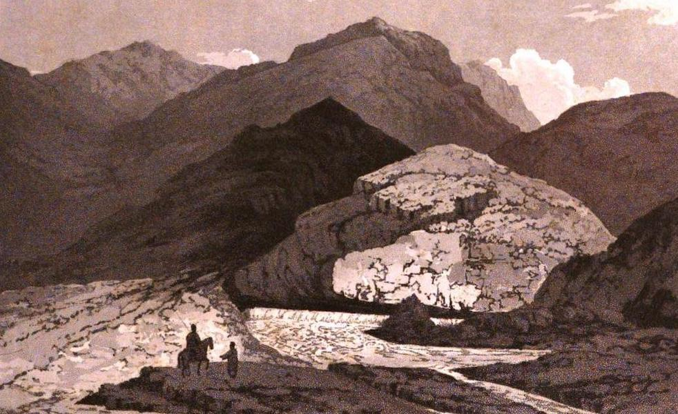 A Journey from India to England - Naphtha Springs near Daulky (1818)