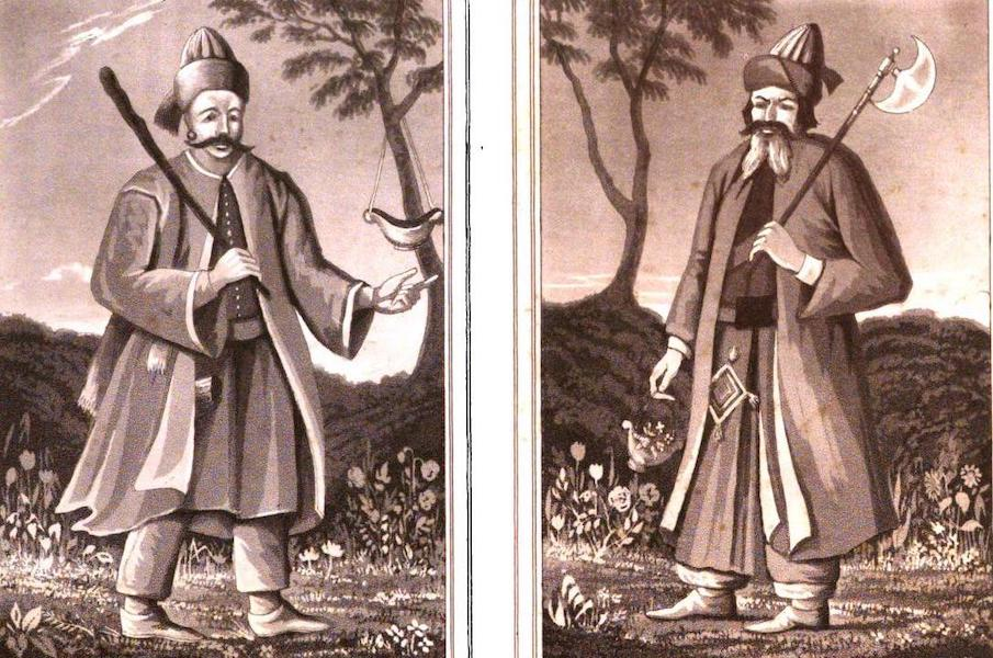 A Journey from India to England - Hafiz and Saadi, from paintings at their tombs (1818)
