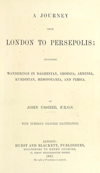A Journey from London to Persepolis - Title Page (1865)