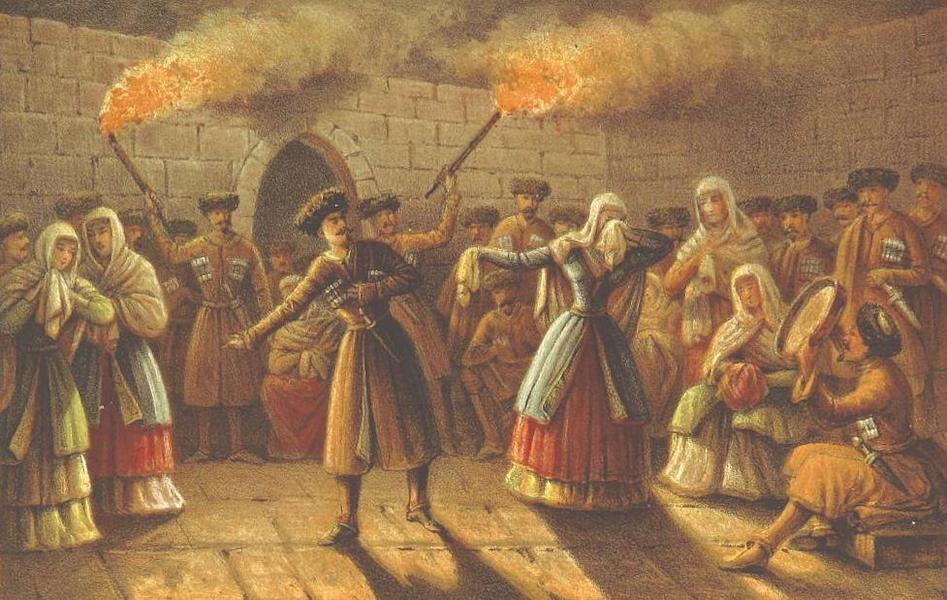 A Journey from London to Persepolis - Circassian Dance (1865)