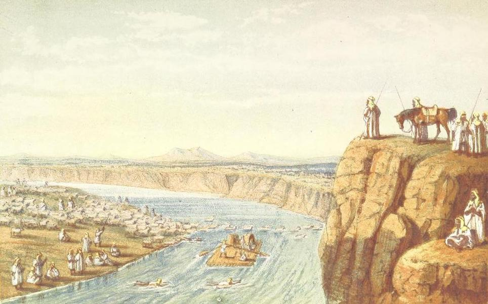 A Journey from London to Persepolis - Bedoween crossing the Tigris with plunder (1865)