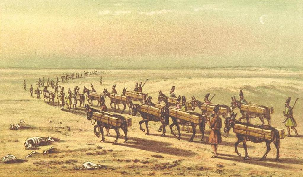 A Journey from London to Persepolis - Caravahn of corpses going to Kerbelah (1865)