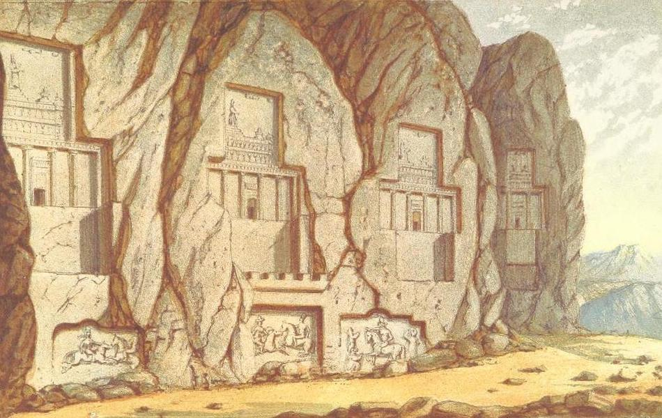 A Journey from London to Persepolis - Tombs of the Kings, Nakchi Rustum (1865)