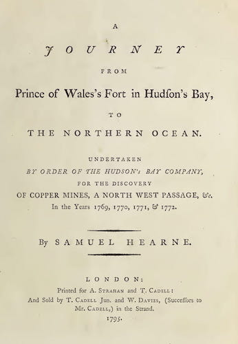 Aquatint & Lithography - A Journey from Prince of Wales's Fort in Hudson's Bay