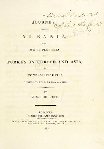Aquatint & Lithography - A Journey through Albania, and other Provinces of Turkey