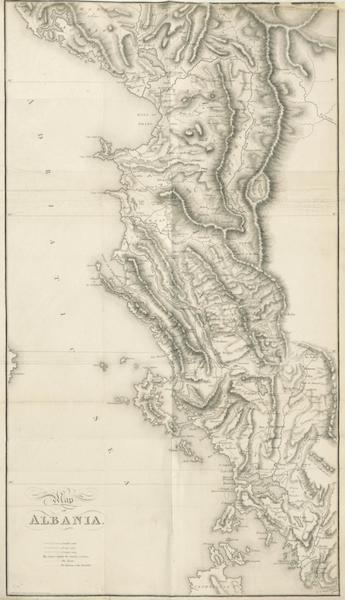 A Journey through Albania, and other Provinces of Turkey - Map of Albania (1813)