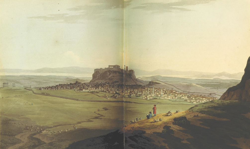 A Journey through Albania, and other Provinces of Turkey - Athens, from the foot of Mt Anchesmus (1813)
