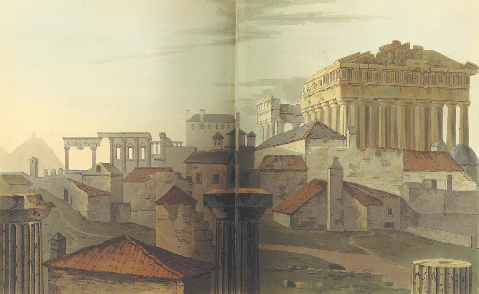 A Journey through Albania, and other Provinces of Turkey - The West Front of the Acropolis from the Summits of the Propylaea (1813)