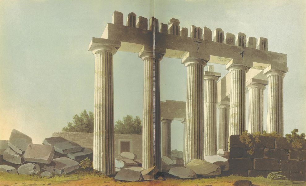 A Journey through Albania, and other Provinces of Turkey - South East Angle of the Parthenon (1813)