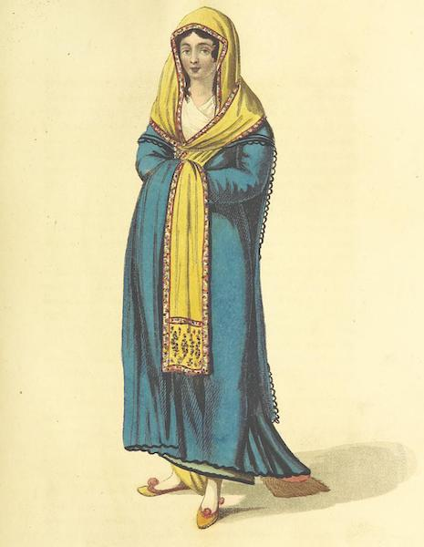 A Journey through Albania, and other Provinces of Turkey - A Greek Lady in her walking dress (1813)