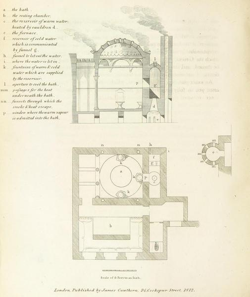 A Journey through Albania, and other Provinces of Turkey - [Bath House Diagram] (1813)
