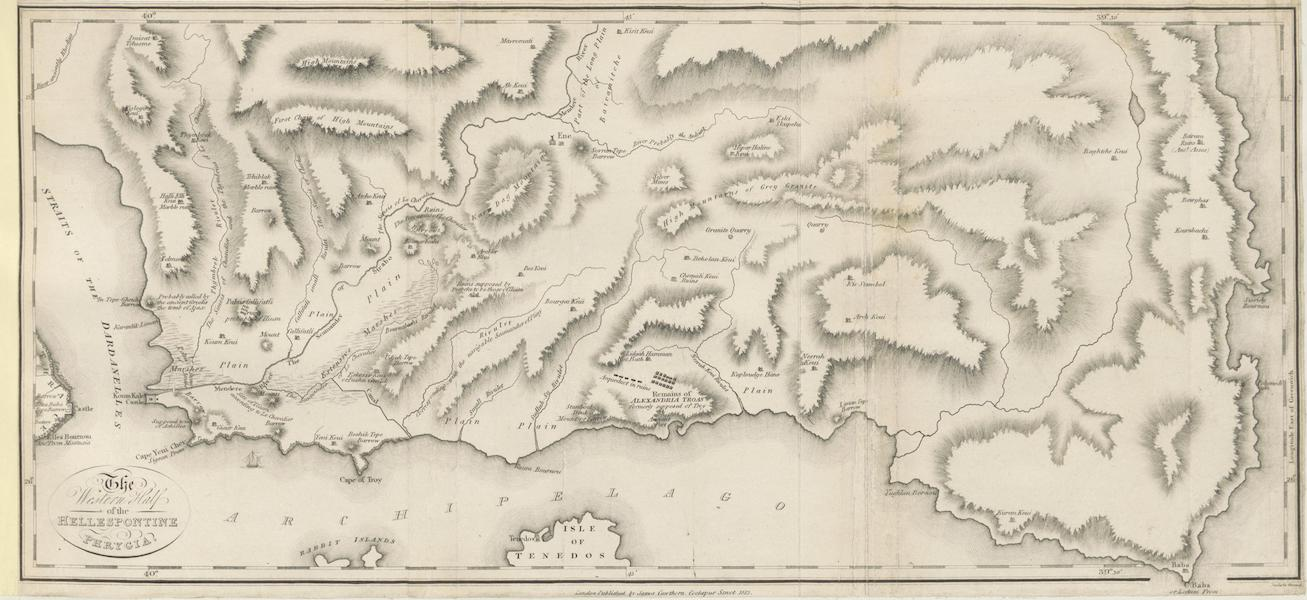 A Journey through Albania, and other Provinces of Turkey - Map of the Western Half of the Hellespontine Phrygia (1813)