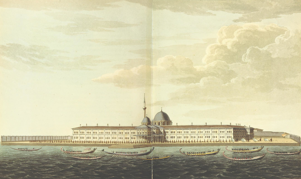 A Journey through Albania, and other Provinces of Turkey - The New Barracks of the Bombardiers & Miners  (1813)