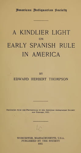 English - A Kindlier Light on Early Spanish Rule in America