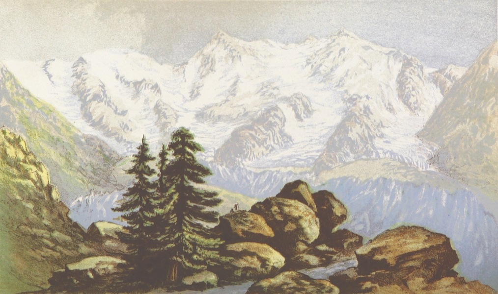 A Lady's Tour Round Monte Rosa - Monte Rosa from the Belvedere (1859)