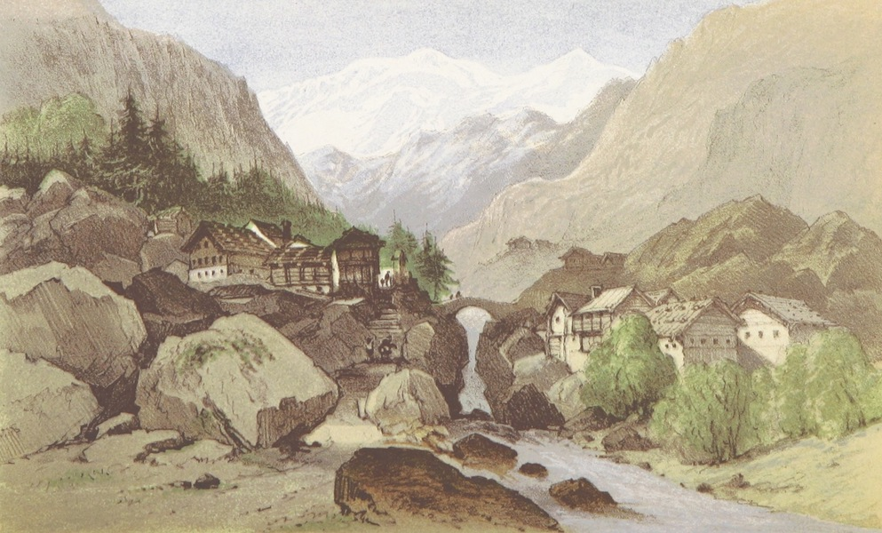 A Lady's Tour Round Monte Rosa - The Lyskamm from near Gressonay (1859)