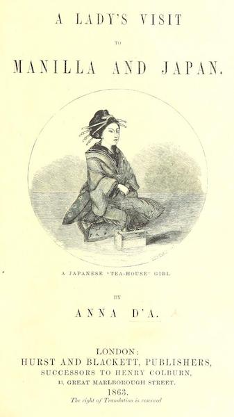 A Lady's Visit to Manilla and Japan - Title Page (1863)