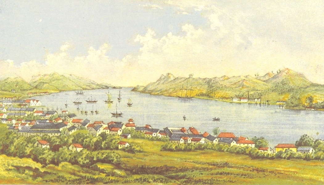 A Lady's Visit to Manilla and Japan - The Bay and Part of the Town of Nagasaki (1863)