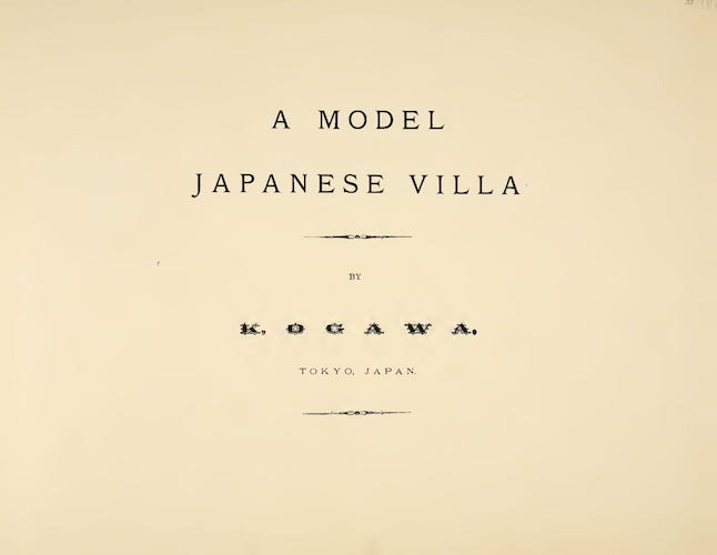 Aquatint & Lithography - A Model Japanese Villa