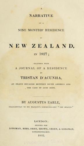 California Digital Library - A Narrative of a Nine Months' Residence in New Zealand