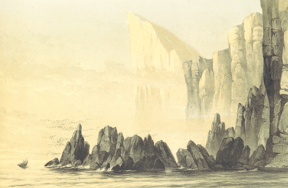 A Narrative of the Cruise of the Yacht Maria - Myling Head as Seen from the South. 8100 Feet High (1855)