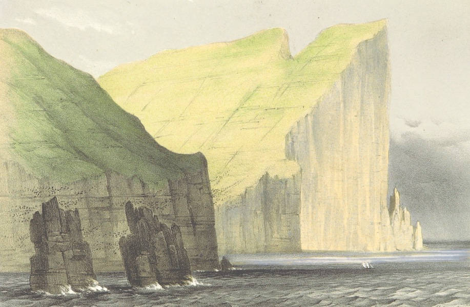 A Narrative of the Cruise of the Yacht Maria - Myling Head as Seen from the North. 2100 Feet High (1855)