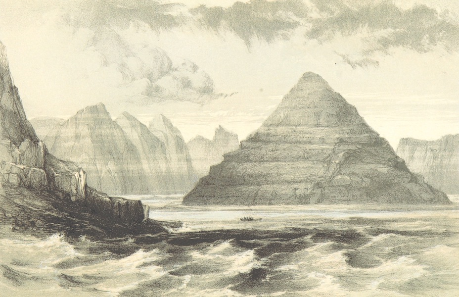 A Narrative of the Cruise of the Yacht Maria - South Eastern Point of Kunoe as Seen from Waal Bay (1855)