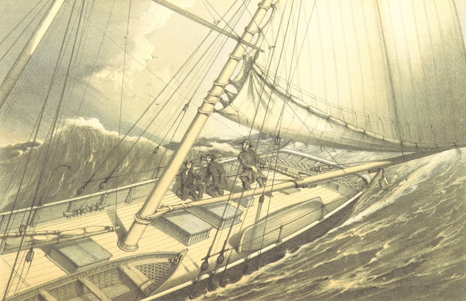 A Narrative of the Cruise of the Yacht Maria - Deck Scene in the Northern Ocean (1855)