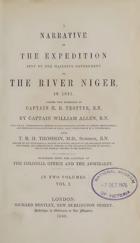 English - A Narrative of the Expedition Sent By Her Majesty's Government to the River Niger Vol. 1