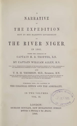 Aquatint & Lithography - A Narrative of the Expedition Sent By Her Majesty's Government to the River Niger Vol. 2