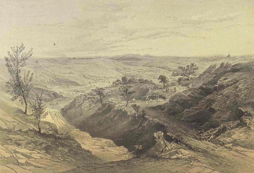 A Narrative of the Mission to the Court of Ava - View of the Oil Wells at Yenangyoung (1858)
