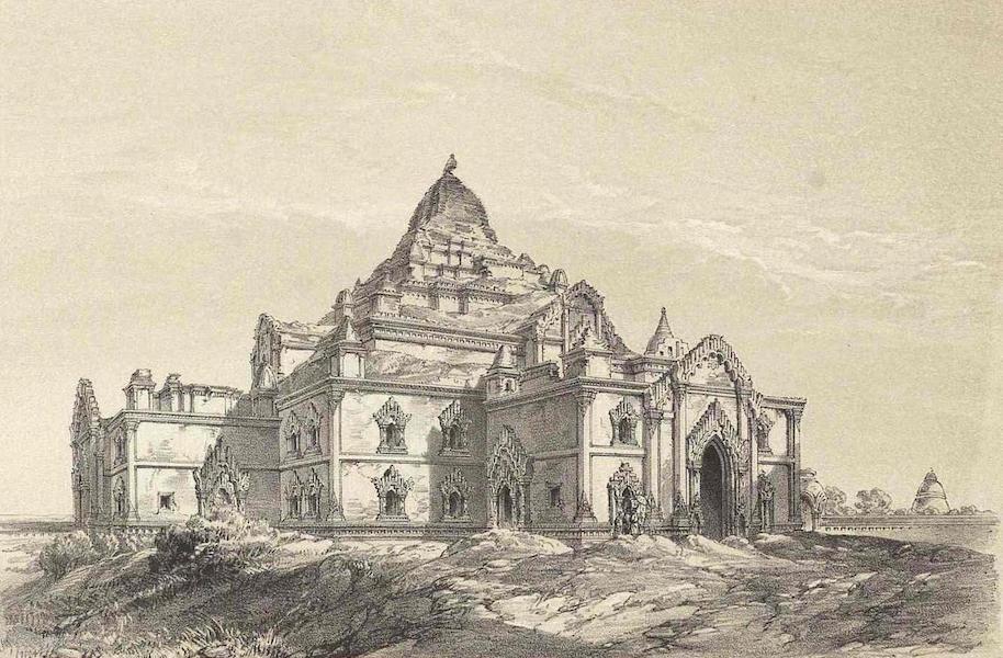 A Narrative of the Mission to the Court of Ava - S.E. View of Dhamayangyee Temple at Pagan (1858)