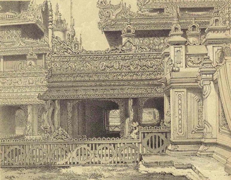 A Narrative of the Mission to the Court of Ava - Carved Work of One of the Royal Monasteries (1858)